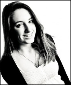 Smiling Teenage Girl in black and white - Family & Portrait Headshot Photographer
