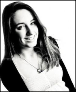 Smiling Teenage Girl in black and white - Family & Portrait Headshot Photographer