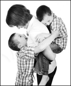 Mother and Two Sons embracing - Family Portrait Photographer