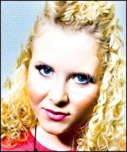 Blonde Female Singer Colourful Close Up - Event, Theatre & Music Artist Headshot Portfolio Photographer