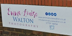 Emma-Louise Walton Photography Studio in Burnham wall sign with contact details